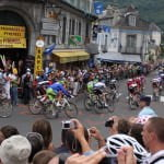 Pro Peleton in Luz St. Sauveur - Tour de France Bicycle Tour & Tour de France vacation packages