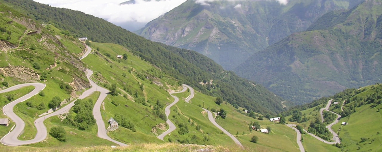 View down Luz Ardiden in the Pyrenees
