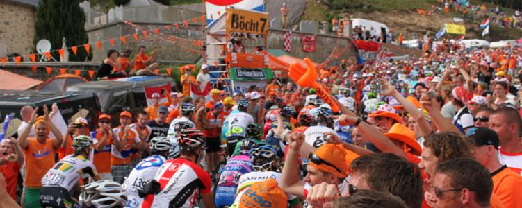 Alpe d'Huez during the Tour de France