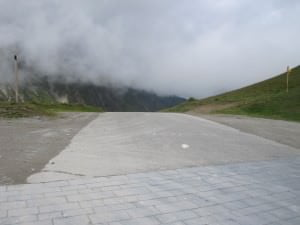 The road just drops away at the top of the Glandon.