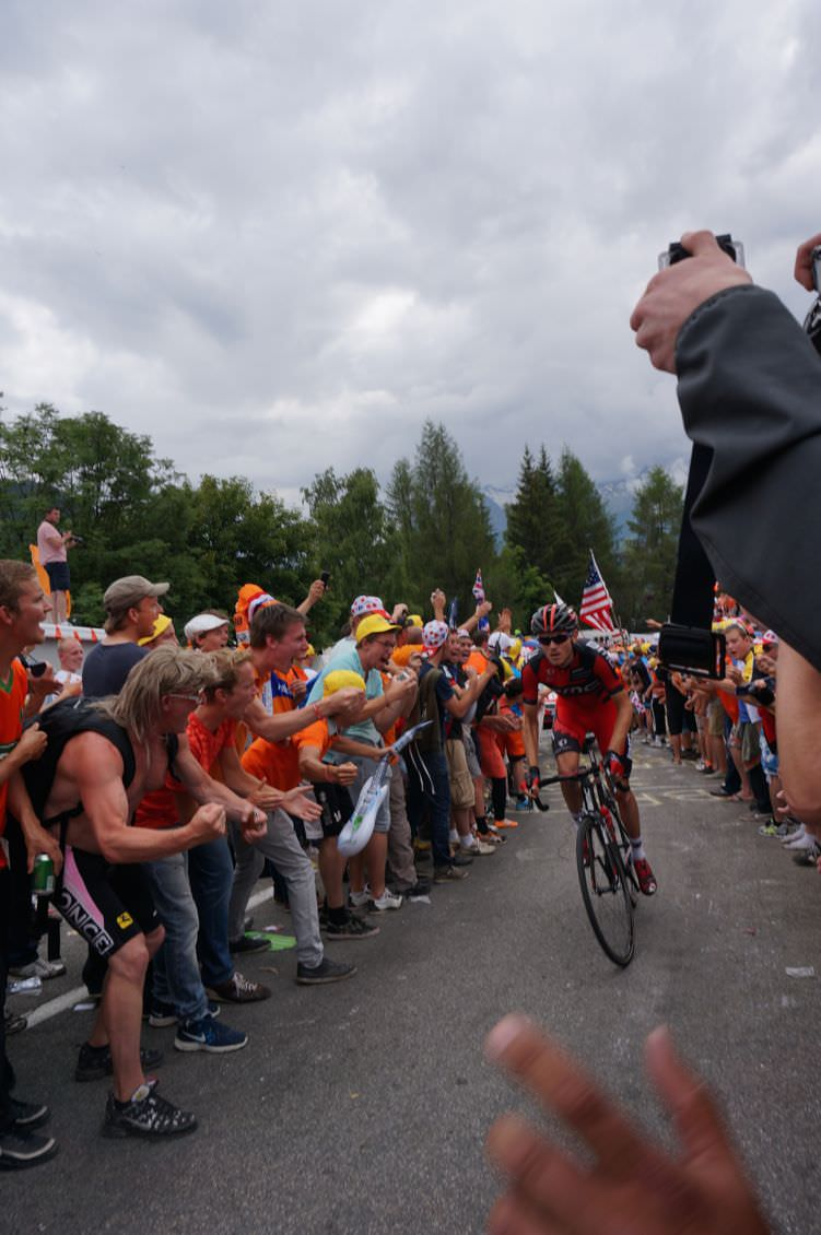 Van Garderen on Alpe d'Huez 2013 during TdF vacation packages