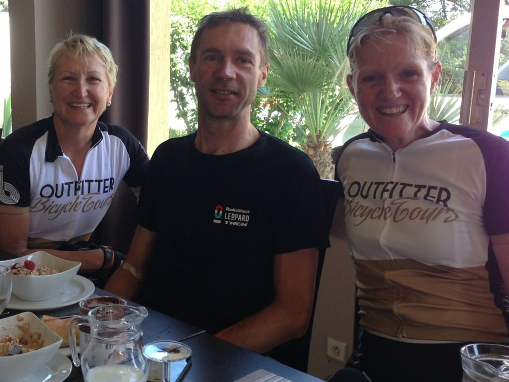 Jens Voigt at Breakfast on Rest Day in Vaison La Romaine in 2013