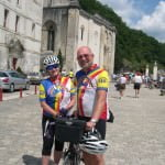 Marilyn & Dick Powell cycling in the Dordogne