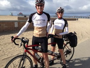 Victor Fritz & Julie Krumwiede on their Tandem Bicycle - Outfitter Bicycle Tours Reviews