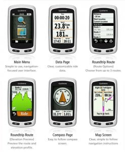garmin edge touring screens