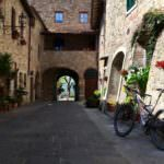 Quaint village in Tuscany during Tuscany Bike tours