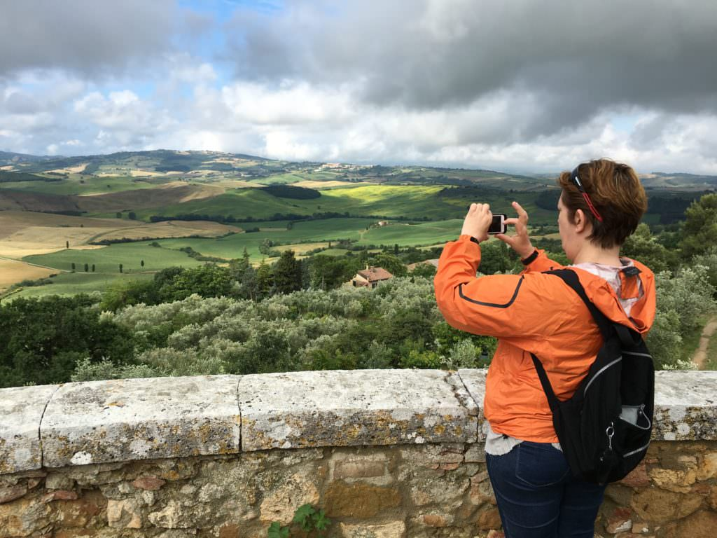 rolling Tuscany hills during Tuscany bike tours